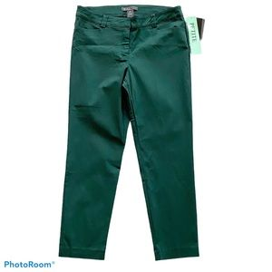 89th & Madison Mid-Rise Stretch Ankle Length Pants